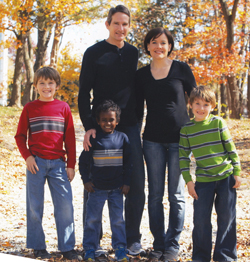 Todd and Carolyn Pridemore, with sons (from left) Josh, Titus and Andrew