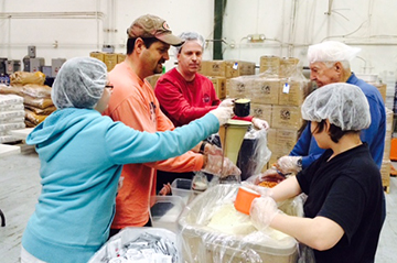 Members of Westhaven Baptist Church in Portsmouth, Va., package food for Stop Hunger Now. (Westhaven Baptist Church photo)