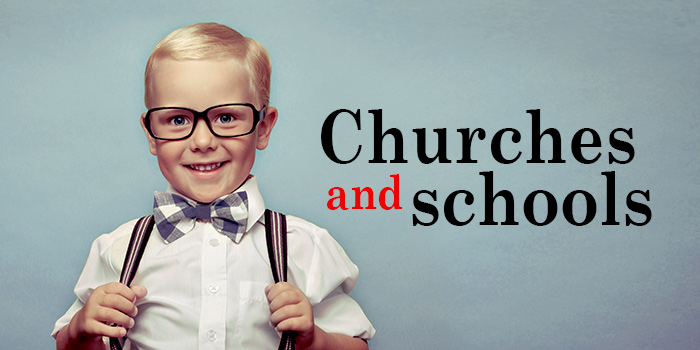 church and school slider