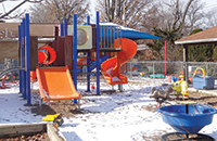 Trinity Lutheran playground in Columbia, Mo. Due to a contentious footnote in the Supreme Court ruling, both supporters and critics of the church's argument believe future cases will determine the scope of the shift in church-state relations created by the case. (Word&Way/Brian Kaylor)