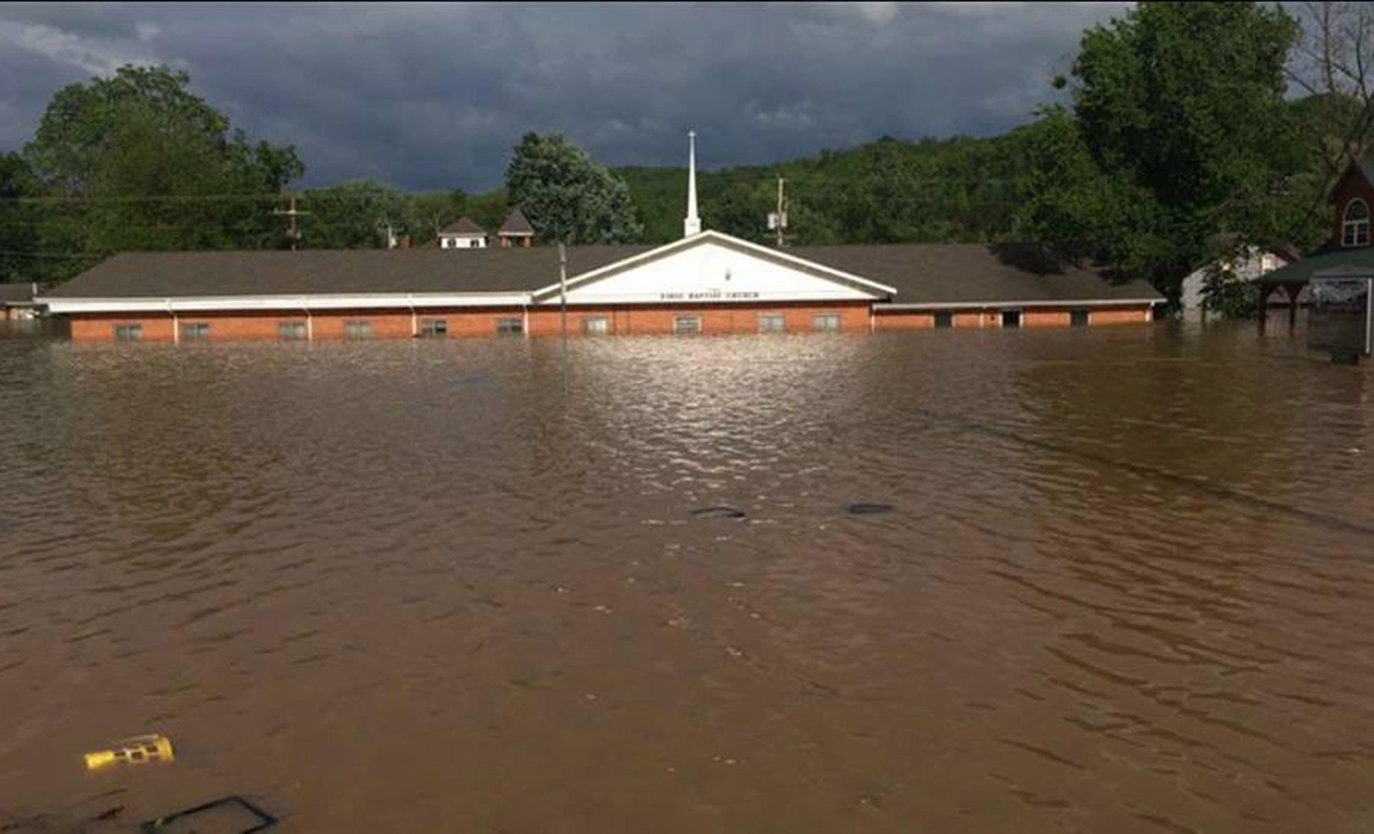 First Baptist Church in Van Buren, Mo., was one of several churches in Missouri and Arkansas, along with a Baptist campground affected by recent Midwest flooding. (Baptist Press)