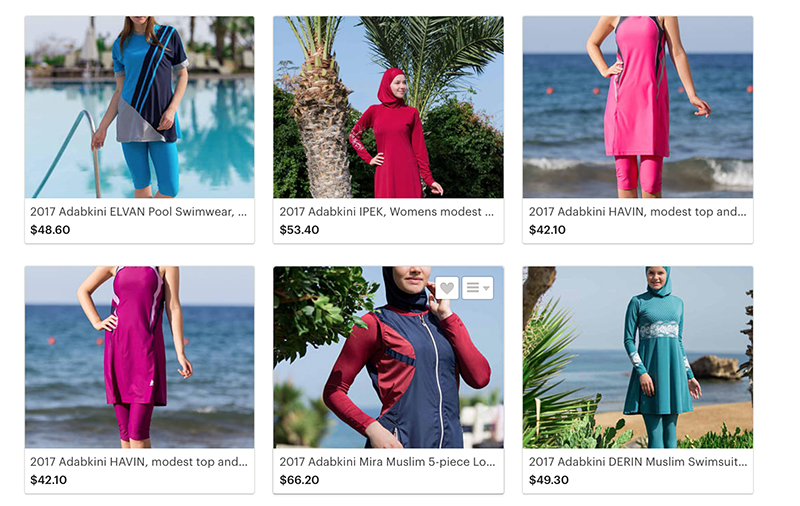 A variety of styles available from Adabkini. Screenshot