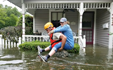 Four Baptist churches are among the congregations in the Houston area that have established shelters for residents needing to evacuate due to flooding, says KTRK-TV, an ABC affiliate in Houston.