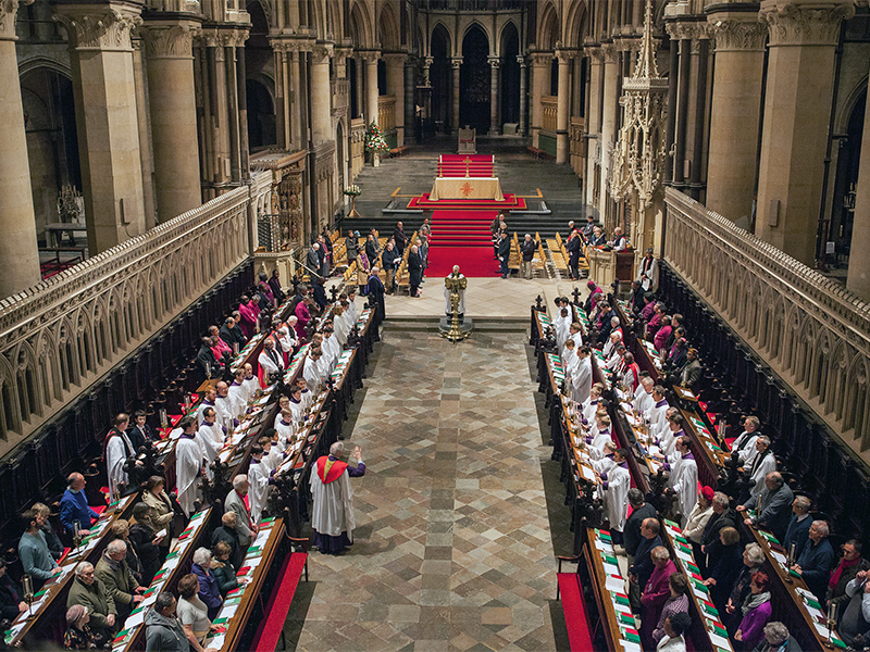 "Evensong service during the ""Primates 2016"" gathering in Canterbury Cathedral on Jan. 11, 2016, in southern England. Photo courtesy of Creative Commons/Anglican Archives"