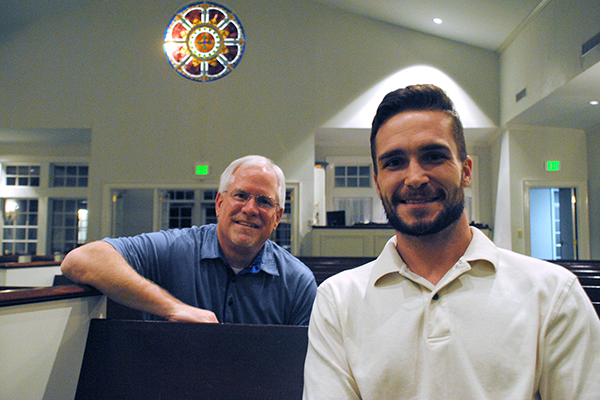 A lot has changed since Ben Moseley, right, and two of his buddies set fire to several Baptist churches on a night of binge drinking 11 years ago. With the help of Jeff Greer, left, and others, Moseley has found forgiveness and a new start.