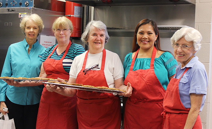 Providing comfort to grieving families in Williamson County through the Cookie Comfort Ministry are, from left, Charlene Cochrane, Evelyn Pearson, Evelyn Hilton, Drea Briggs, and Barbara Elder of Oak Valley Baptist Church, Franklin. (Photo: Brandy Blanton)
