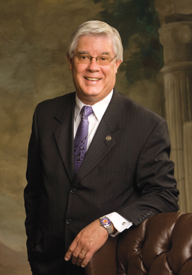 Southwest Baptist University President Dr. C. Pat Taylor has announced he will retire  Aug. 31, 2018. He will have led the university for almost 22 years. (Photo: SBU)