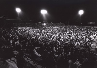 Thirty-five thousand attend a closing service in Villahermosa, Mexico in 1981. RNS file photo.