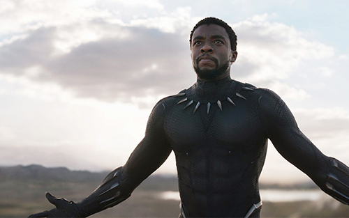 "Actor Chadwick Boseman as Black Panther/T'Challa in the new ""Black Panther"" movie. Photo courtesy of Marvel Studios"