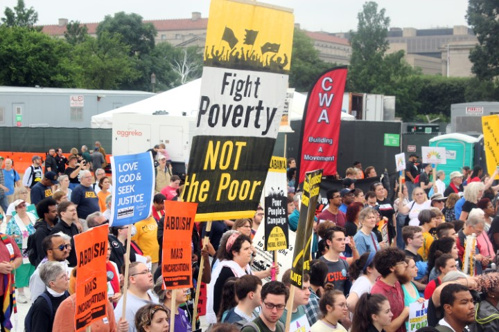 People attend the Poor People's Campaign rally on the National Mall in Washington on June 23, 2018. RNS photo by Adelle M. Banks