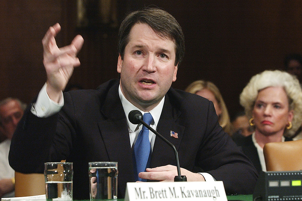 Brett Kavanaugh appears before the Senate Judiciary Committee on Capitol Hill in Washington on April 26, 2004. (AP Photo/Dennis Cook)