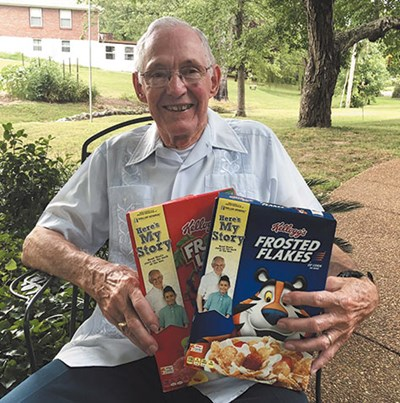 Neal Buchanan, a member of Lincoya Hills Baptist Church in Nashville, was featured on cereal boxes nationwide. Photo by April Dawson