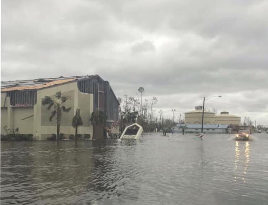 Three to four feet of water flooded First Baptist Church in Lynn Haven, Fla. Photo submitted