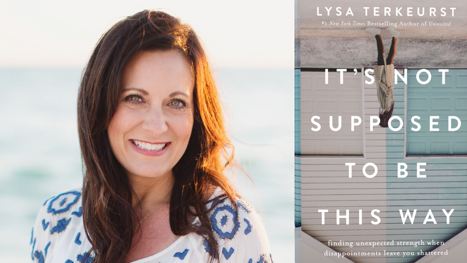 "Author Lysa TerKeurst and her book, ""It's Not Supposed to Be This Way."" Image courtesy of Thomas Nelson"
