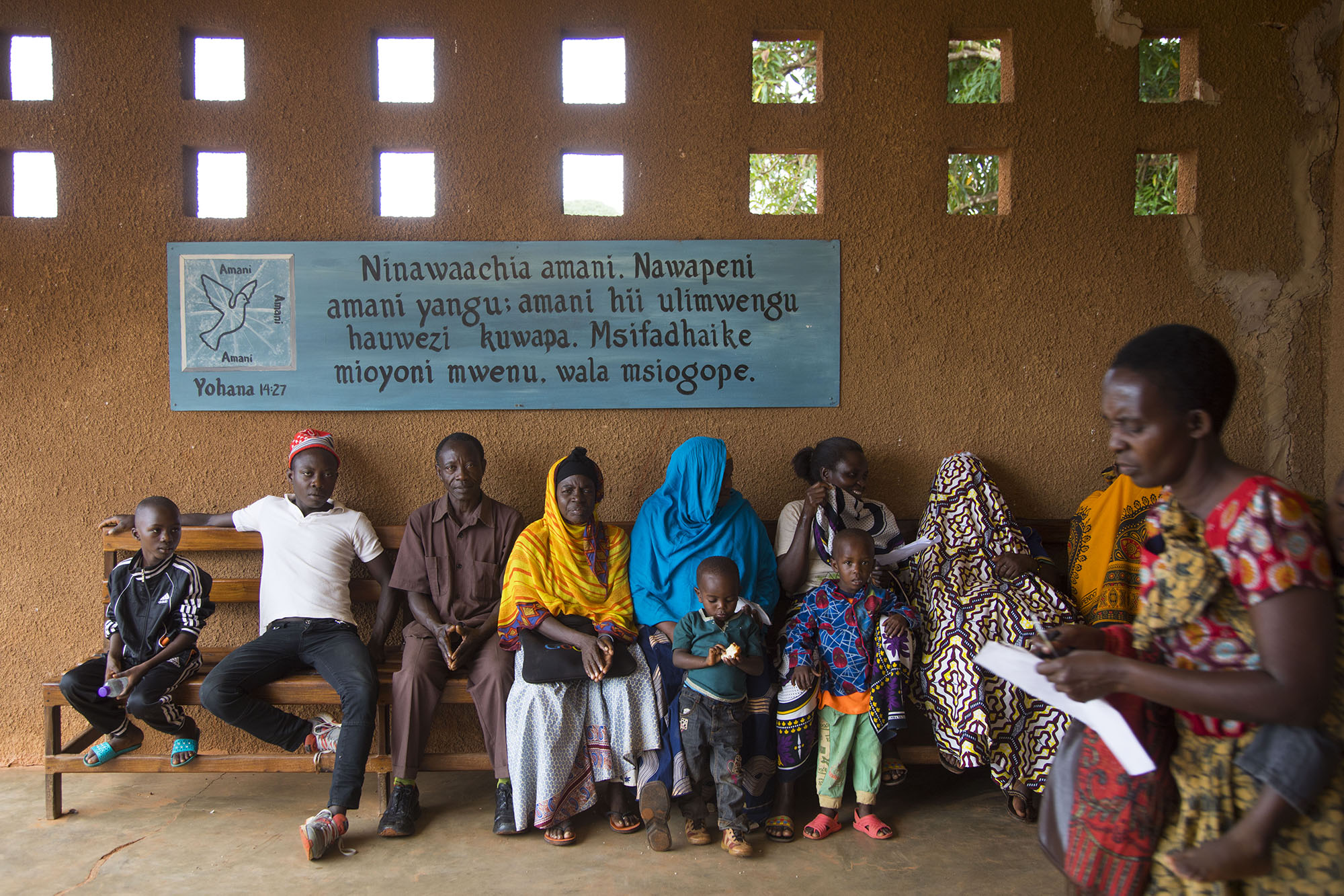 Patients wait in line to be registered at Kigoma Baptist Hospital in Tanzania. Because of the volume of need, the hospital may occasionally run out of room or resources. But International Mission Board medical missionary Larry Pepper says that doesn't last long -- churches always step up to fill in the gaps. IMB photo