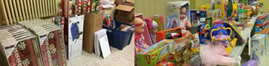 Second Baptist Church in Liberty, Mo., works with those referred to the church and provides festive music and free childcare while parents purchase donated gifts. In, 2017, 86 families and 250 children were served, with more expected in 2018. (Pictures submitted)