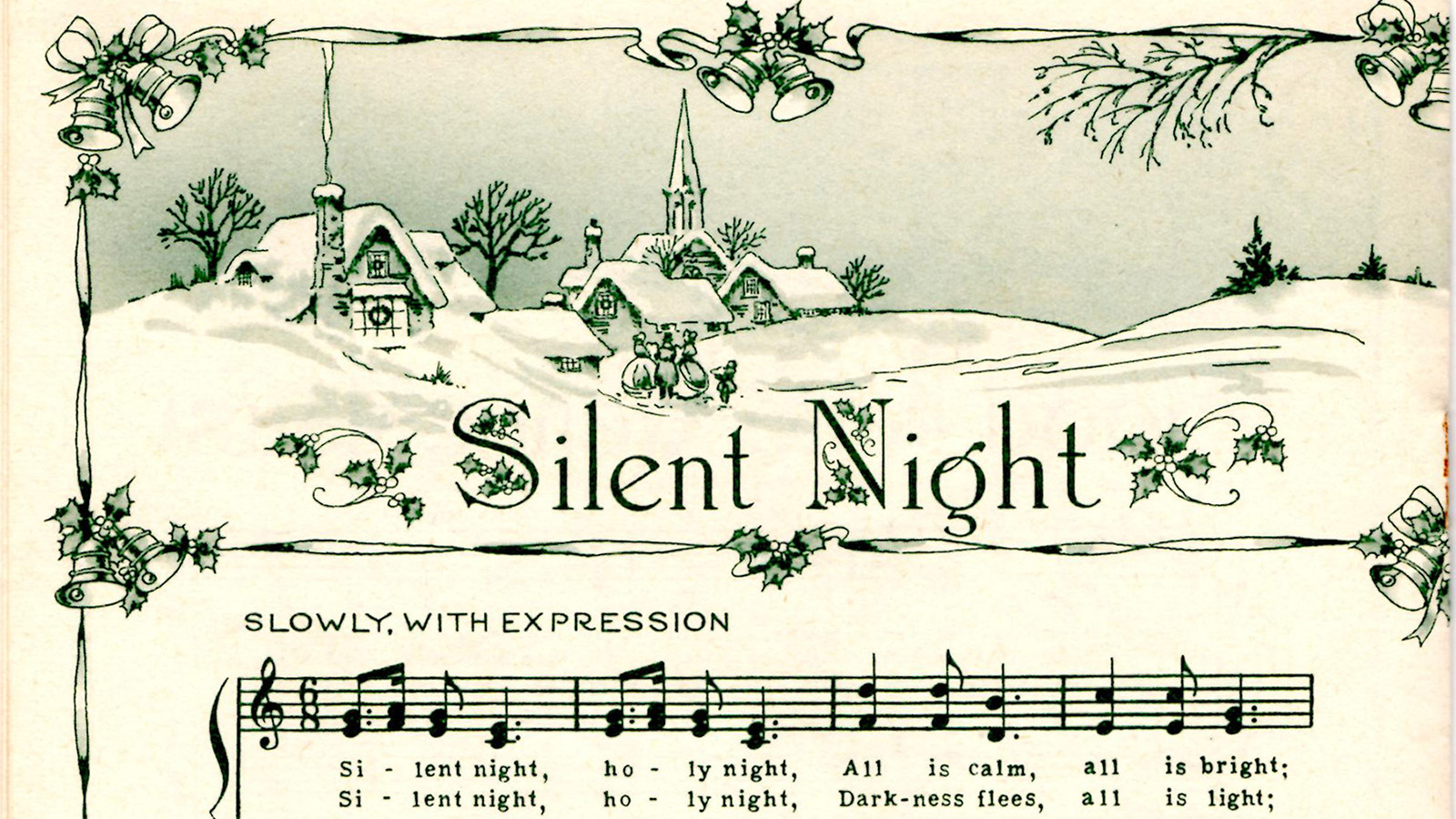 "A stylized score of ""Silent Night."" The Christian world is marking the famous hymn's 200th anniversary this year. Image courtesy of Creative Commons"