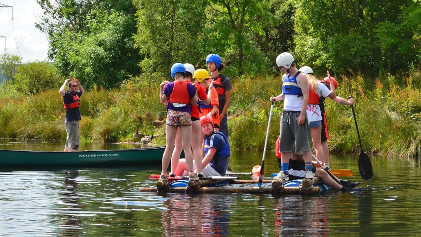Youths participate in water activities at a summer camp. Photo courtesy of Creative Commons