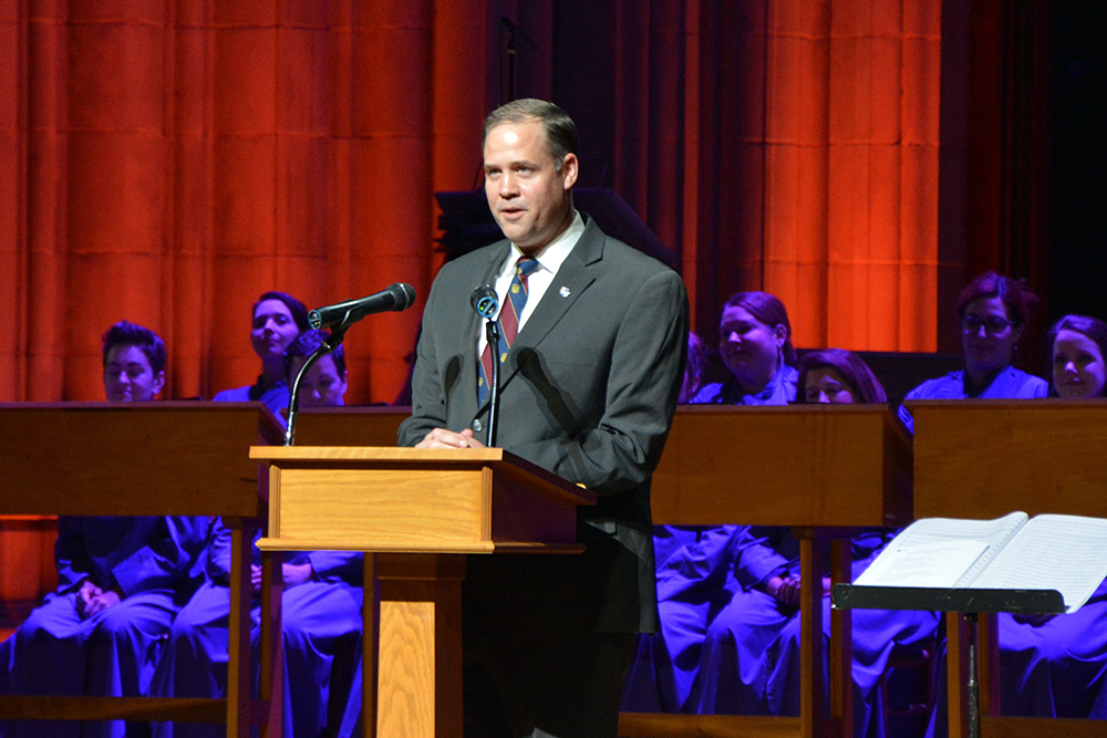 NASA Administrator Jim Bridenstine speaks at the Washington National Cathedral on Dec. 11, 2018. RNS photo by Jack Jenkins