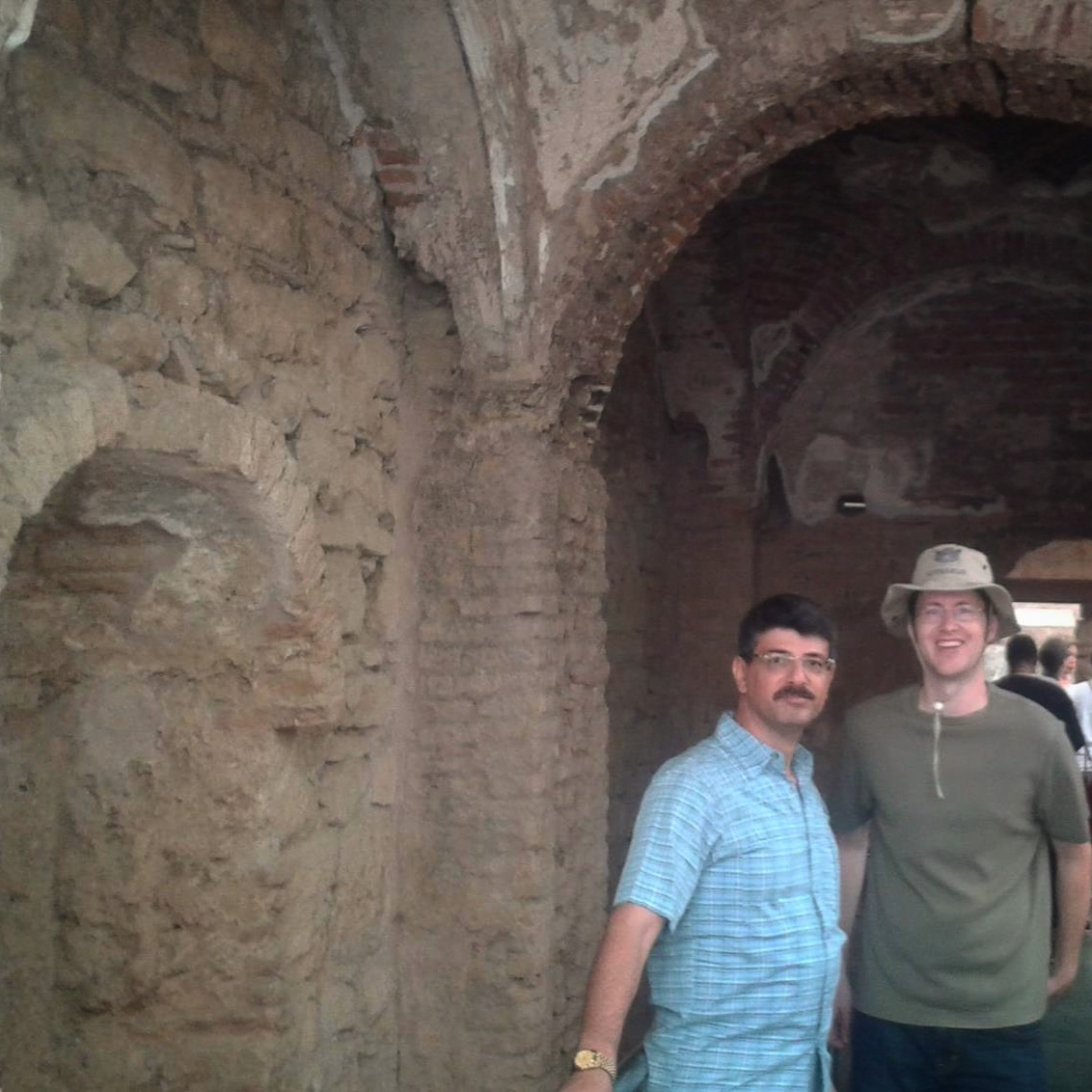 Ara and Brian in Ephesus.