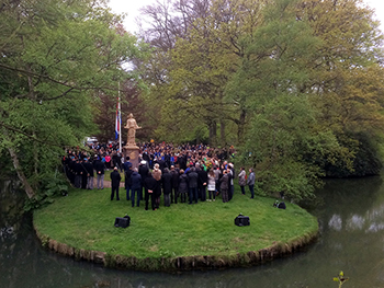 People observe Remembrance Day in Driebergen, Netherlands, on May 4, 2017. RNS photo by Richard Mouw