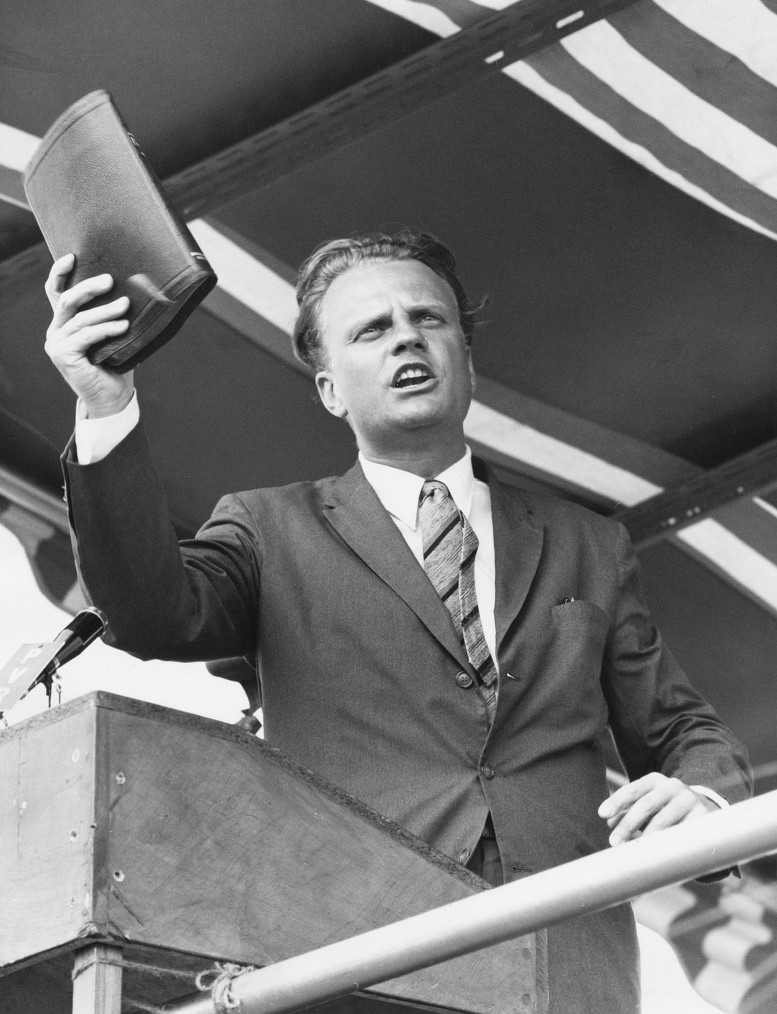 For six decades, Billy Graham proclaimed the Gospel in a simple and courageous way at stadium events in more than 180 countries outside the United States. One of these was in Bulwayo, Zimbabwe in 1960. Photo by IMB