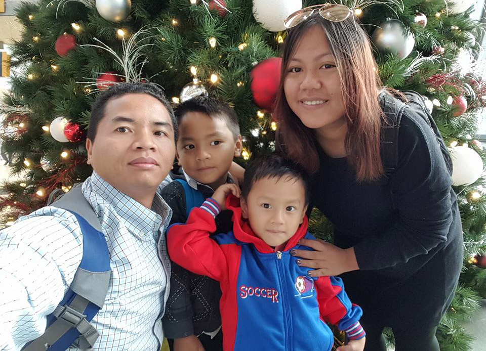 Silas Lian, with his wife Tracy and their two sons, anchor a multi-faceted outreach to San Diego's Burmese community. (Submitted photo)