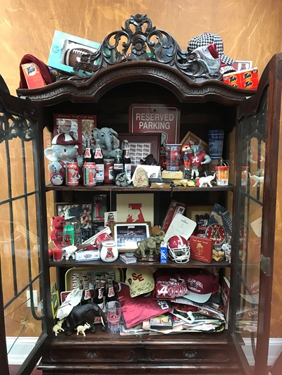Jerry Walls' office contains all kinds of Alabama memorabilia that he has collected over the years. (Submitted photo)