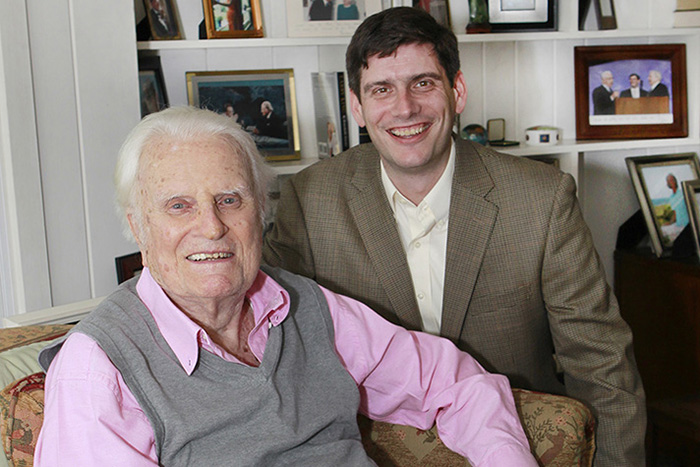 Billy Graham with grandson Will Graham. Photo courtesy of Billy Graham Evangelistic Association