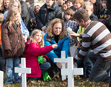 Each year, Highland Baptist Church in Louisville, Ky., covers their grounds with crosses. Each cross represents one person in the community killed by violence in the past year.