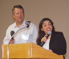 Carol Bercian describes ministering to those who live in Guatemala City dump. (Bill Webb)
