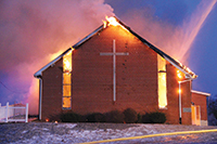 Antioch church fire