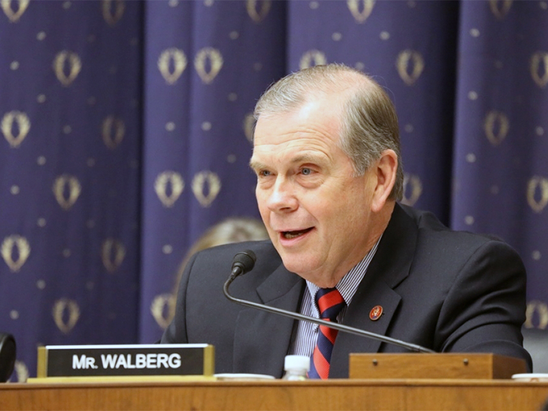 U.S. Rep. Tim Walberg, R-Mich., has questioned the existence of climate change. Photo courtesy of walberg.house.gov