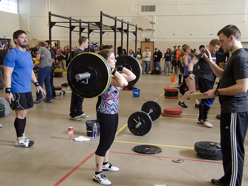 A woman awaits a judge during a CrossFit event in 2013. Photo courtesy of James Holroyd/Creative Commons