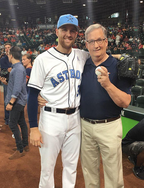 """Scott McHugh, father of Houston Astros pitcher Collin McHugh, says having his son in the World Series """"is still surreal to us."""" Photo courtesy of Scott and Teresa McHugh"""