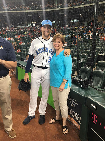 BP Collin McHugh with mom