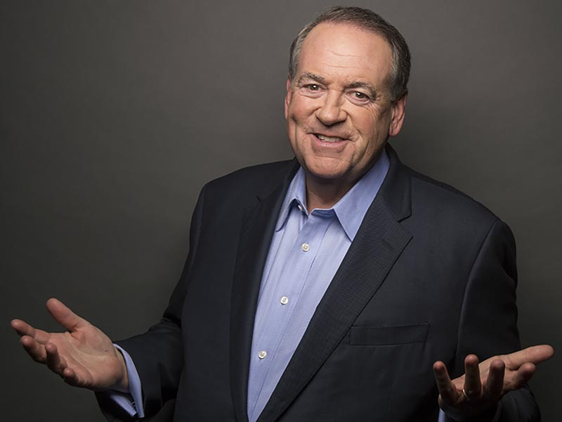 Mike Huckabee announced his candidacy for the Republican nomination in the 2016 presidential election but suspended his campaign on Feb. 1, 2016, and became an active supporter of Donald Trump. Photo courtesy of Mike Huckabee