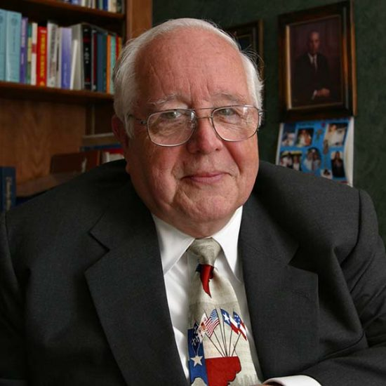 Former Judge Paul Pressler, who played a leading role in wresting control of the Southern Baptist Convention from moderates in 1979, poses for a photo in his home in Houston on May 30, 2004. (AP Photo /Michael Stravato; caption amended by RNS)