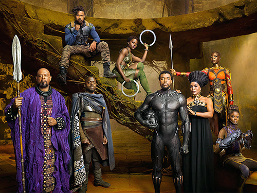 "The primary members of the ""Black Panther"" cast. Photo courtesy of Kwaku Alston/Marvel Studios"