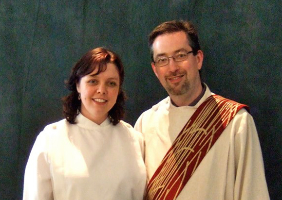 The Revs. Eilidh Lowery and Jeff Lowery are a married couple who are co-founders of the Sellwood Faith Community, an experimental church in Southeast Portland, Oregon. She is a pastor and he is a deacon who directs its missions projects. Photo courtesy of Eilidh Lowery