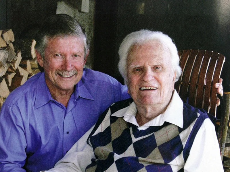 The Rev. Don Wilton, left, with the Rev. Billy Graham, in an undated photo. Photo courtesy of First Baptist Spartanburg