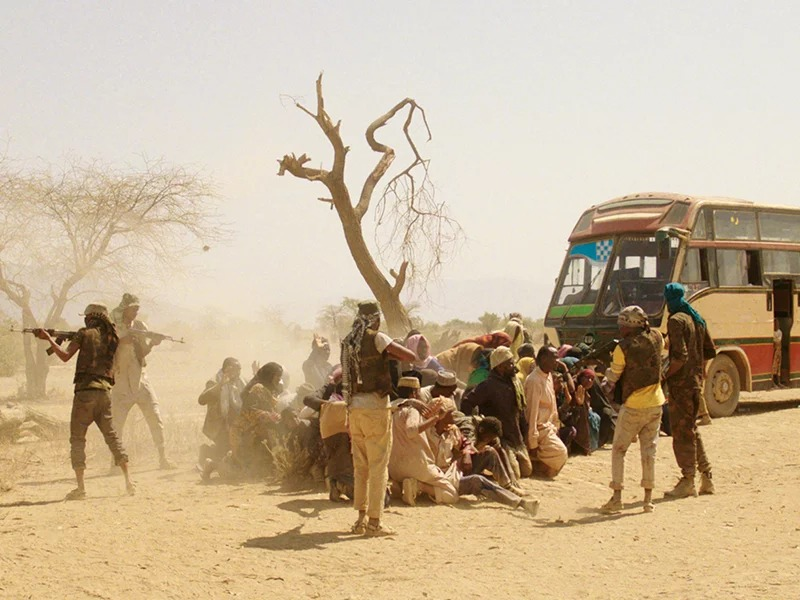 "A scene from the ""Watu Wote"" film, based on the militant ambush of a Mandera, Kenya, bus in December 2015. Photo courtesy of Hamberg Media School"