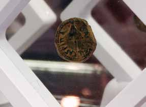 Bronze coin issued by Herod Agrippa I in 41/42 A.D. (Photo: Brian Kaylor)