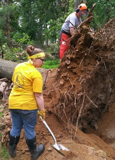 More than 300 disaster relief volunteers from 13 states are helping residents recover from tornado damage in Connecticut. Baptist Convention of New England photo