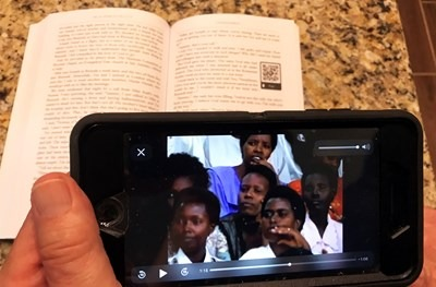 QR codes in Sammy Tippit's upcoming autobiography allow for a visual connection to events he writes about over the course of his nearly 50 years in evangelism. Photo courtesy of Sammy Tippit Ministries