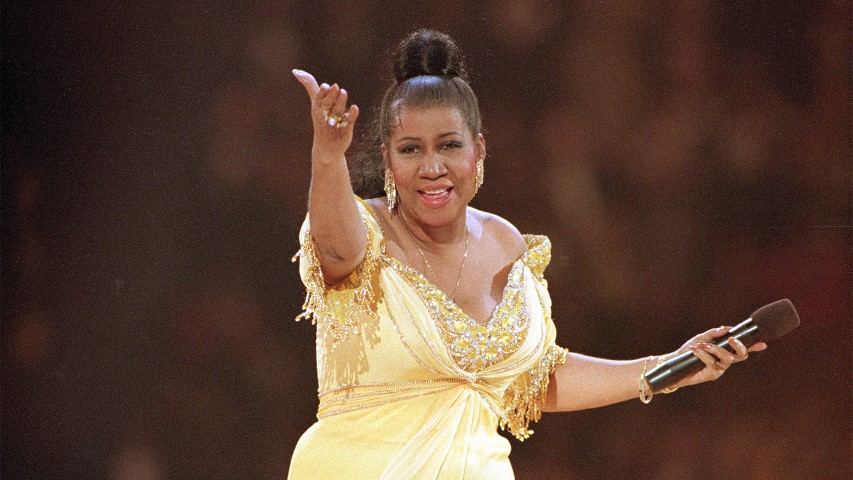 Rhythm and blues singer Aretha Franklin performs at the inaugural gala for President Clinton in Washington on Jan. 19, 1993. (AP Photo/Amy Sancetta)