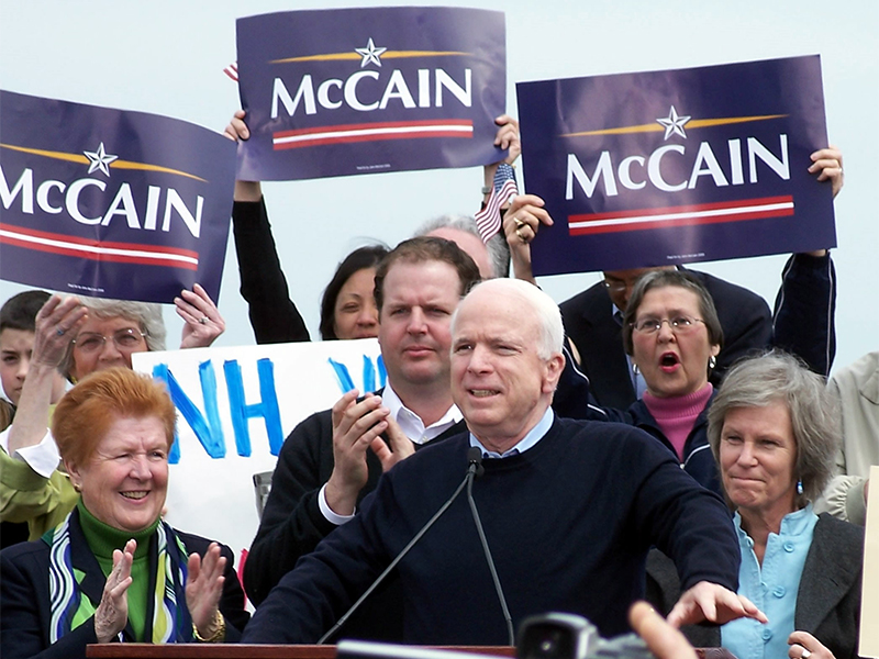 McCain formally announces his candidacy for president in Portsmouth, N.H., on April 25, 2007. Photo courtesy of Creative Commons