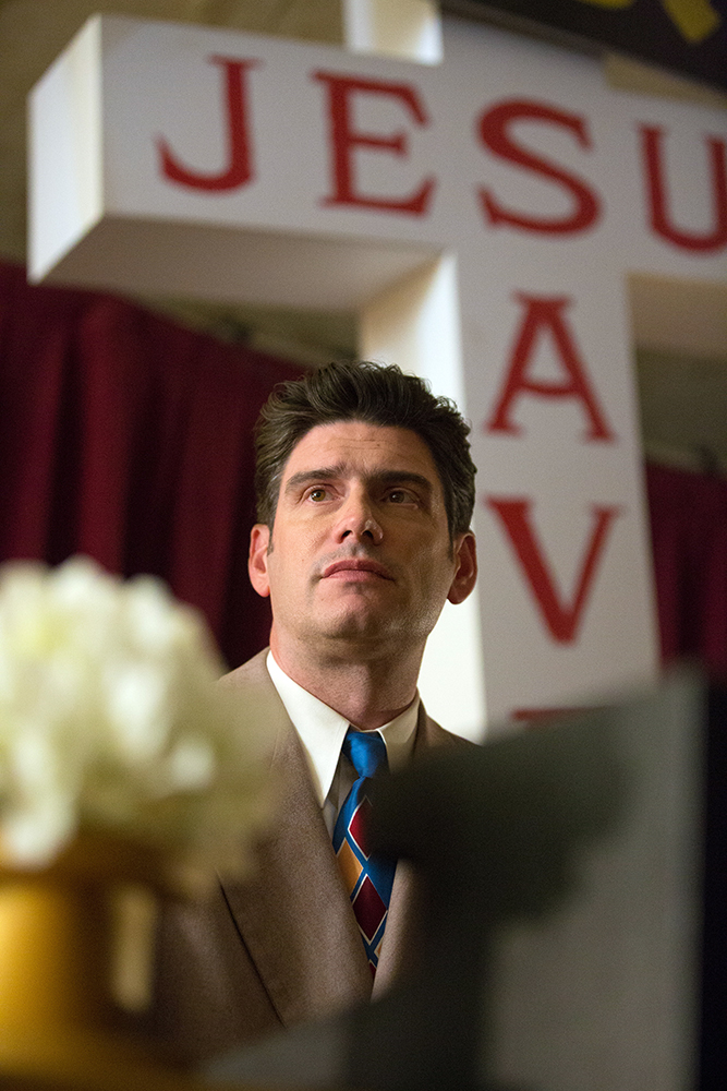 """Billy Graham is played by his grandson, Will Graham, in """"Unbroken: Path to Redemption."""" Photo courtesy of WTA Group/Universal 1440 Entertainment"""