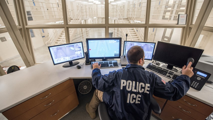 An ICE employee can monitor activity at the Batavia-Buffalo Federal Detention Facility in western New York. Photo by Josh Denmark/DHS/Creative Commons