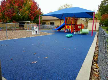 New surface at Trinity Lutheran Church's playground. (Brian Kaylor/Word&Way)